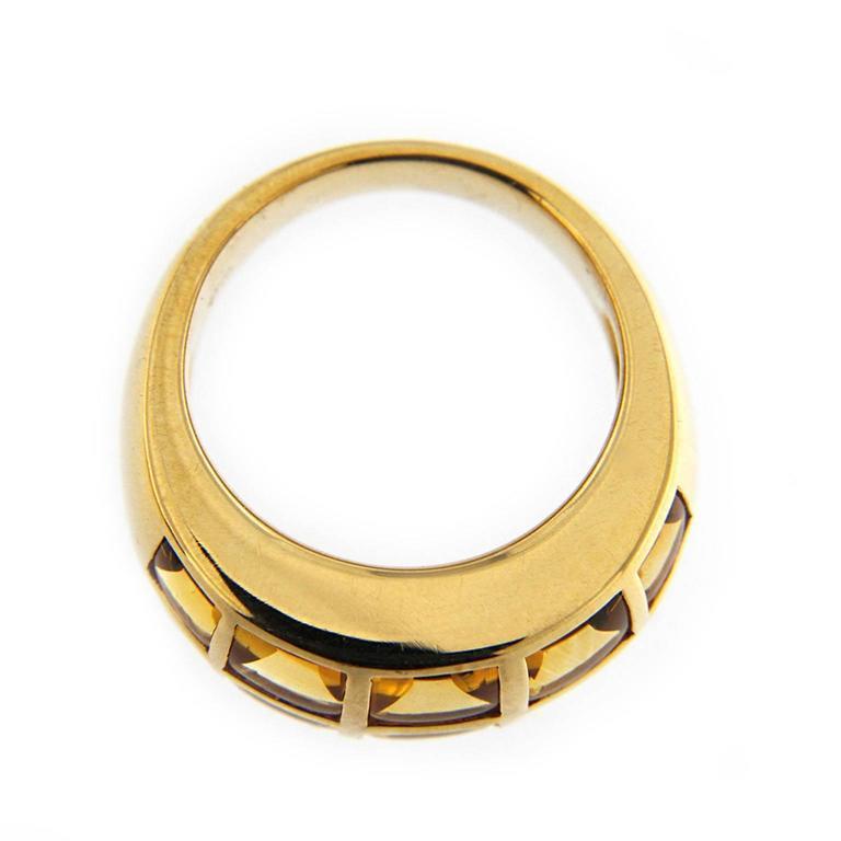 Jona Citrine 18 Karat Yellow Gold Band Ring For Sale 2