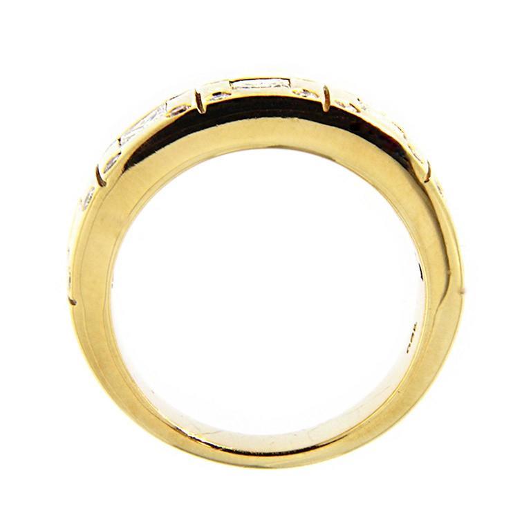 Jona White Diamond 18k Yellow Gold Band Ring For Sale 1