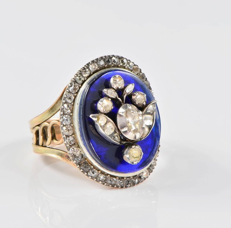 Bristol Blue Glass Ring