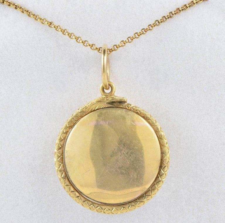Anmtique Crystal Memento Mori Diamond Pendant 22 Karat Gold In Good Condition In Napoli, IT