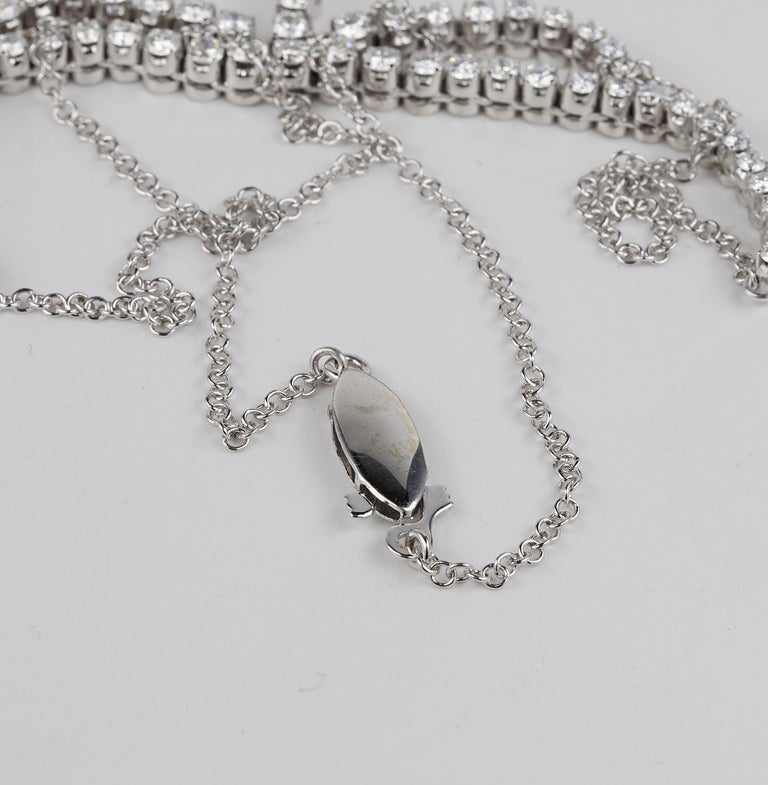 3.30 Carat Diamond F G VVS Glamour of the 1950s Necklace For Sale 1