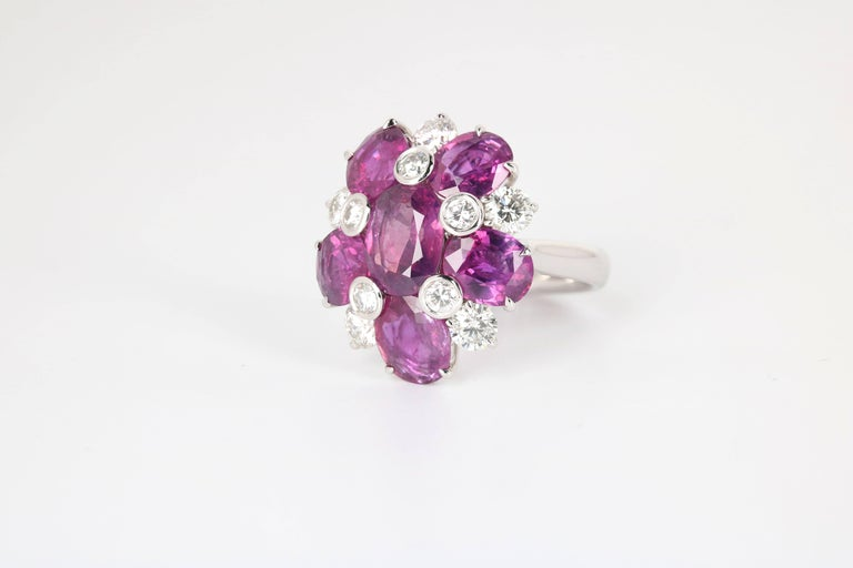 Kashmir Purple Sapphire and Diamond Ring 2