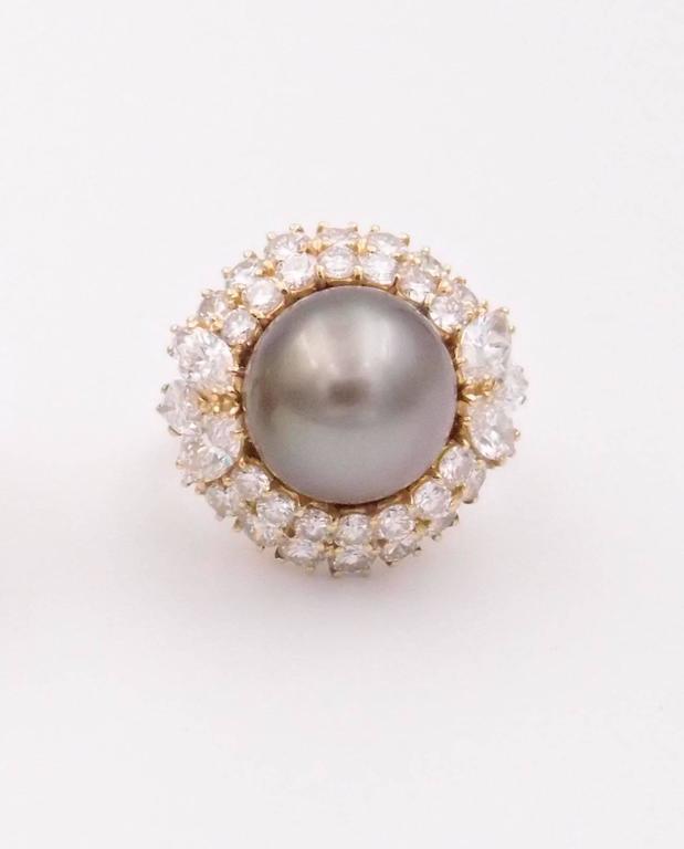 Harry Winston Tahitian Pearl and Diamond Earrings 4