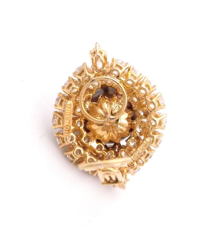 Harry Winston Tahitian Pearl and Diamond Earrings 5