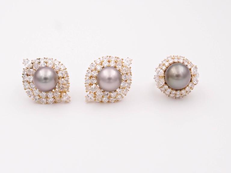 Harry Winston Tahitian Pearl and Diamond Earrings 6