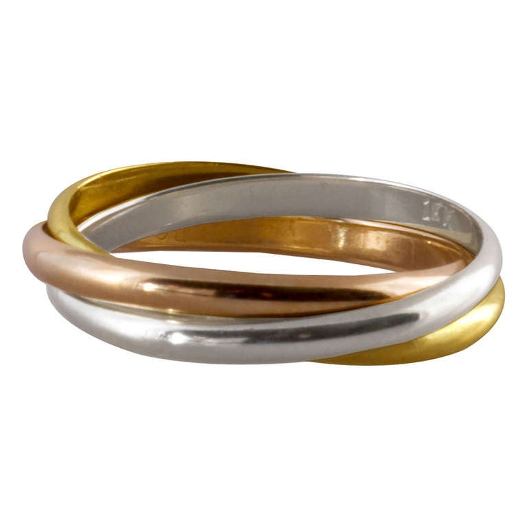 Cartier Trinity Wedding Ring: Cartier Trinity Ring At 1stdibs