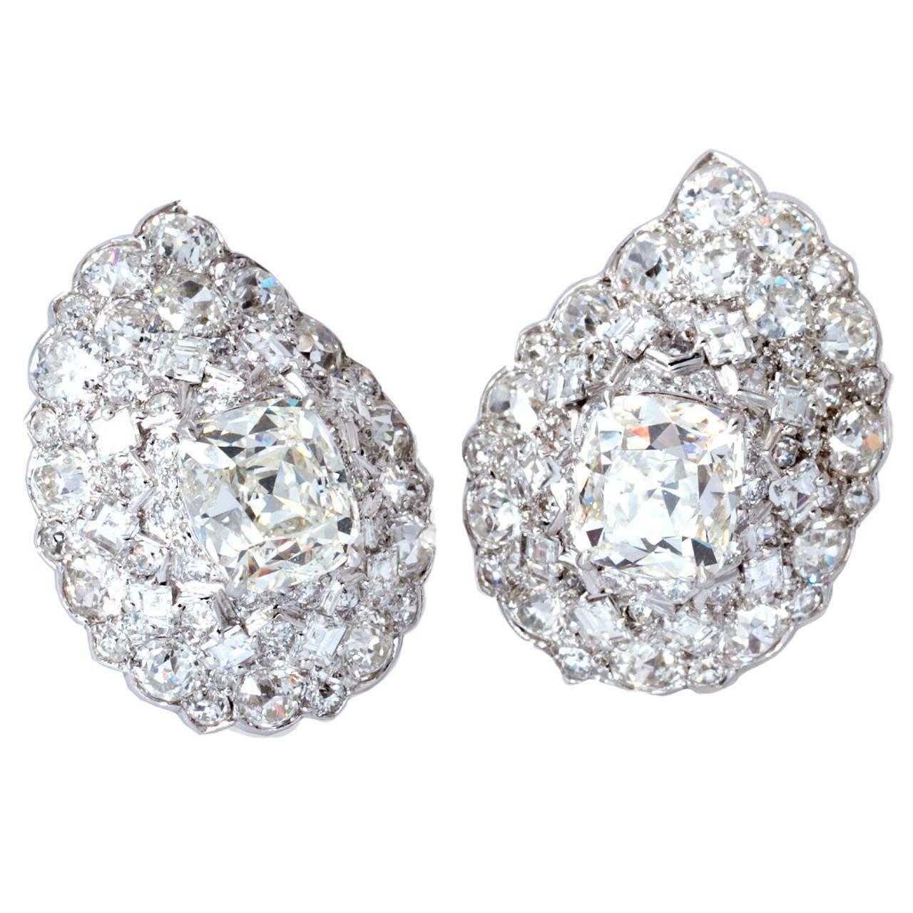 Cartier Diamond Earrings For Sale At 1stdibs