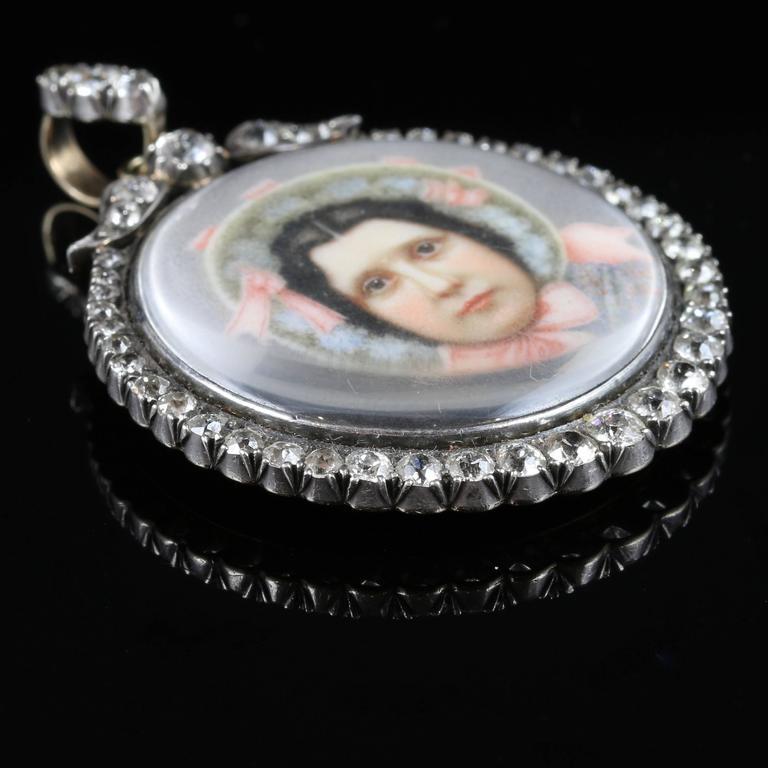 Victorian Suffragette Diamond Gold Silver Pendant Sybil Thomas Viscountess Rhondda Pendant For Sale