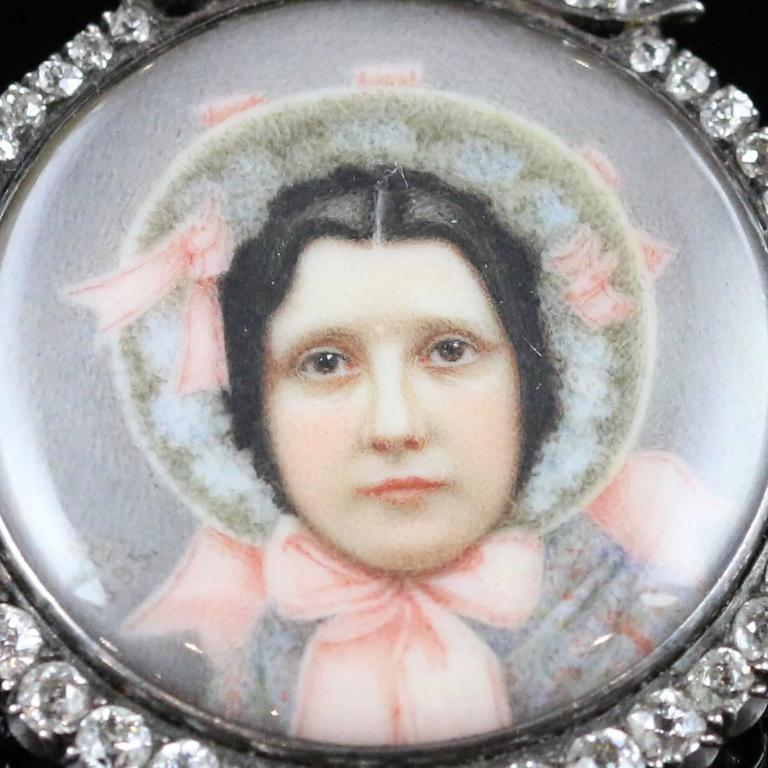 Women's Suffragette Diamond Gold Silver Pendant Sybil Thomas Viscountess Rhondda Pendant For Sale