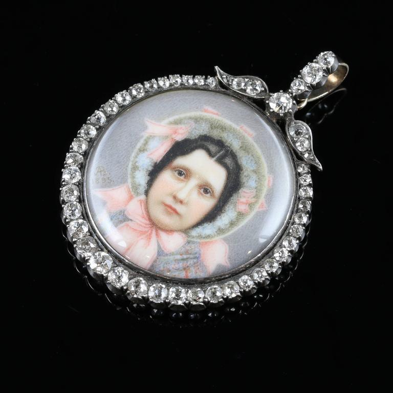Suffragette Diamond Gold Silver Pendant Sybil Thomas Viscountess Rhondda Pendant For Sale 2