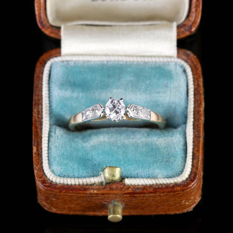Antique Edwardian Diamond Engagement Ring, circa 1915 7