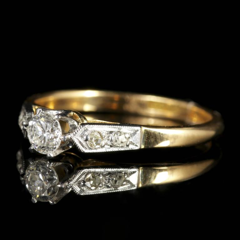 Antique Edwardian Diamond Engagement Ring, circa 1915 2
