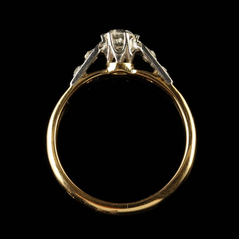 Antique Edwardian Diamond Engagement Ring, circa 1915 6