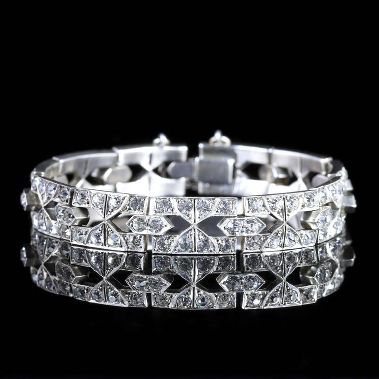 Antique Art Deco Silver Paste Bracelet, circa 1920 2