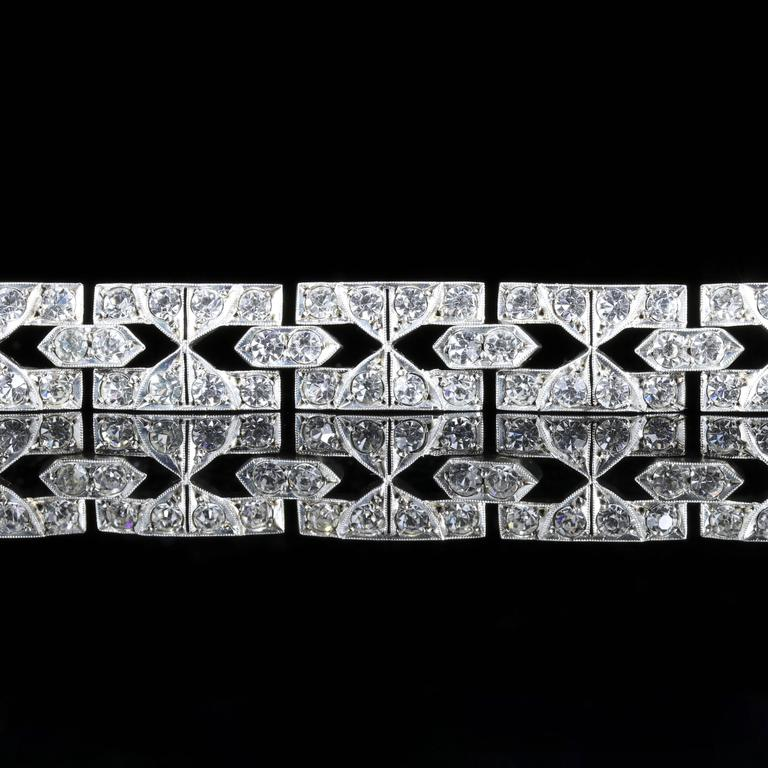 Antique Art Deco Silver Paste Bracelet, circa 1920 3