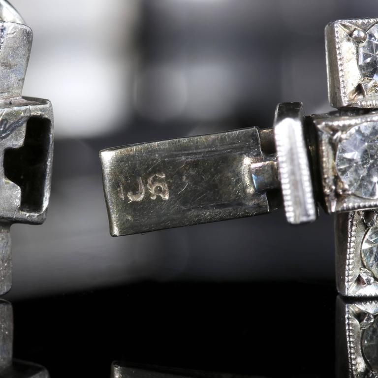 Antique Art Deco Silver Paste Bracelet, circa 1920 9