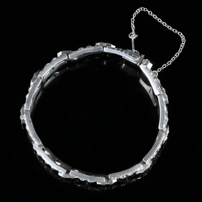 Antique Art Deco Silver Paste Bracelet, circa 1920 5