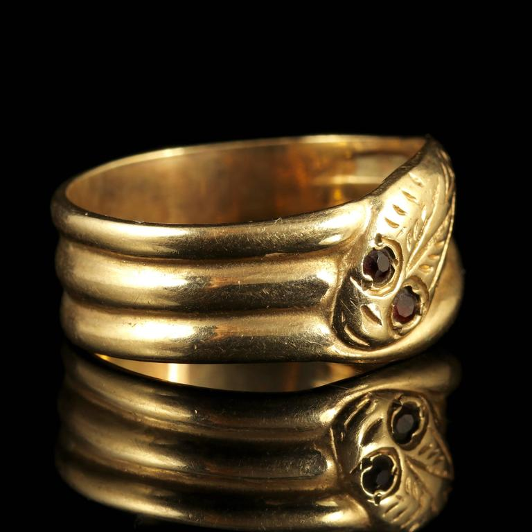 antique snake ring garnet at 1stdibs