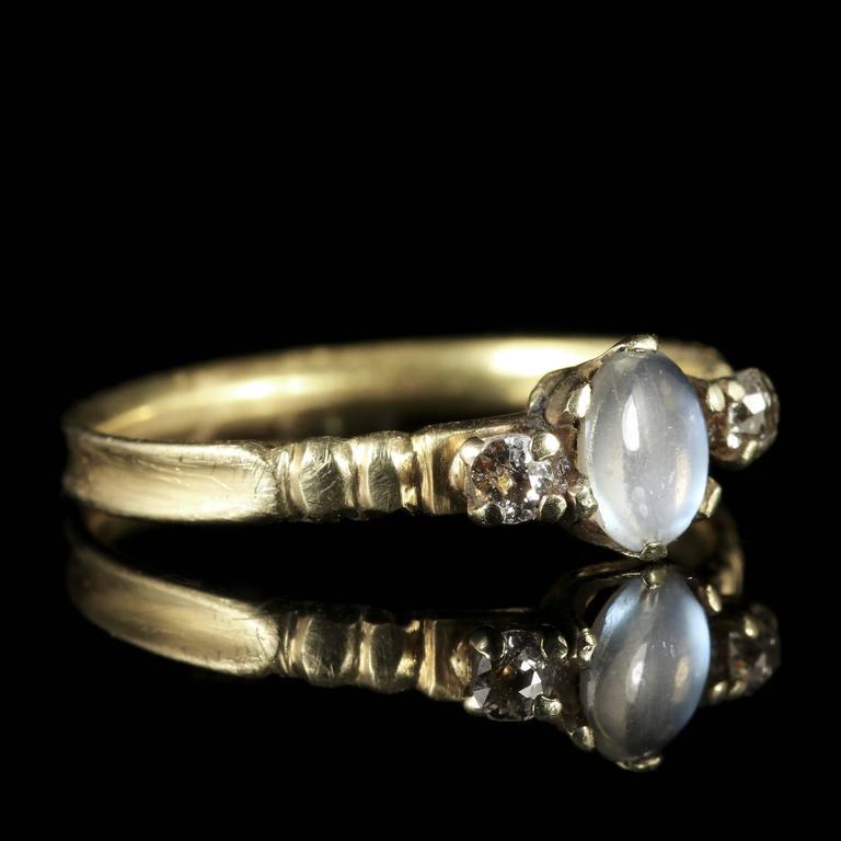 antique georgian moonstone ring 18 carat gold