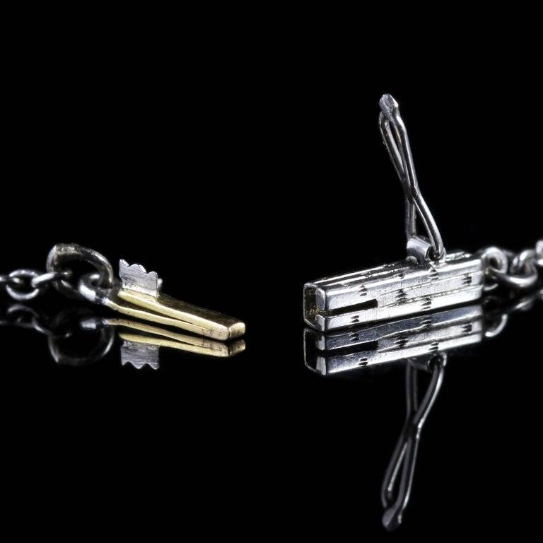 Antique Edwardian Platinum Amethyst Diamond Pendant Necklace For Sale 2