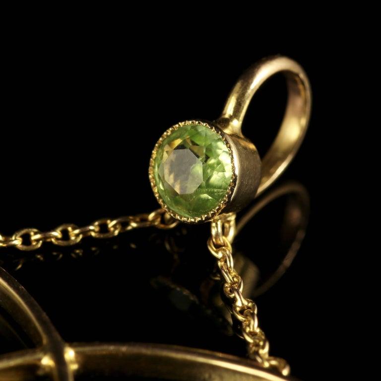 Antique Victorian Suffragette 9 Carat Gold Pendant, circa 1900 For Sale 2