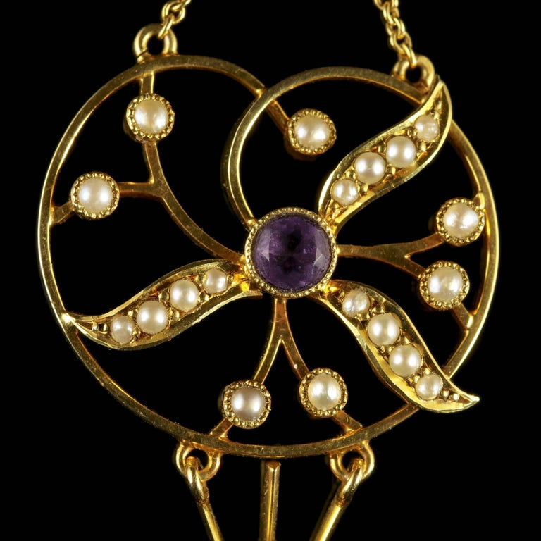 To read more please click continue reading below-  This fabulous antique 15ct Gold Suffragette pendant is genuine Victorian, Circa 1900.   Suffragettes liked to be depicted as feminine, their jewellery was chosen to counter the stereotypes put
