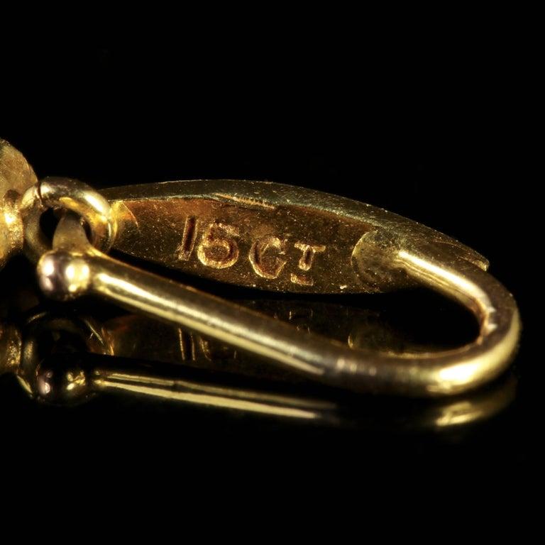Antique Suffragette Victorian Pendant 15 Carat Gold, circa 1900 For Sale 3