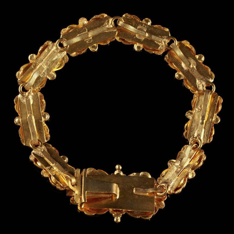 Victorian Turquoise Bracelet Gold Silver, circa 1880 For Sale 1