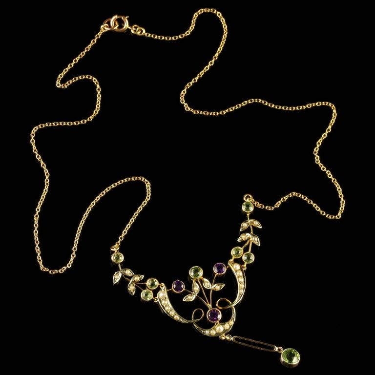 Antique Victorian Gold Suffragette Necklace, circa 1900 For Sale 3
