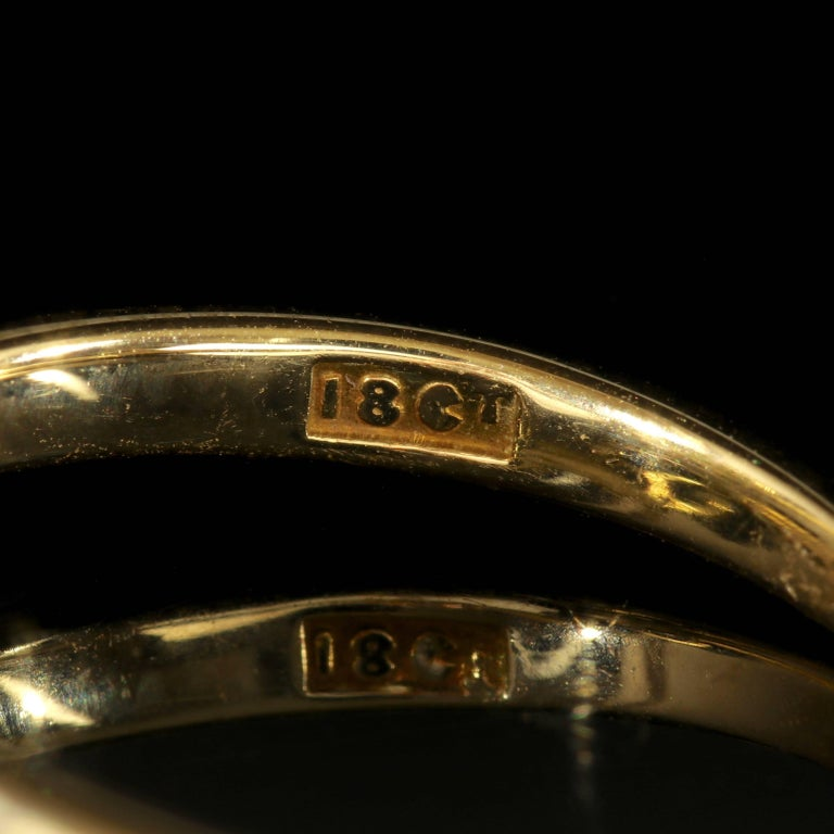 Antique Edwardian Diamond Twist Engagement Ring, circa 1910 For Sale 1