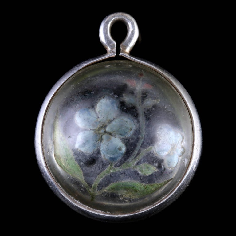 Antique victorian rock crystal forget me not pendant circa 1900 at antique victorian rock crystal forget me not pendant circa 1900 in excellent condition for sale aloadofball Gallery