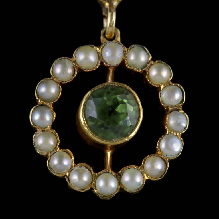 Antique Victorian Suffragette Pendant Necklace 15 Carat Gold, circa 1900 In Excellent Condition For Sale In Lancaster, Lancashire