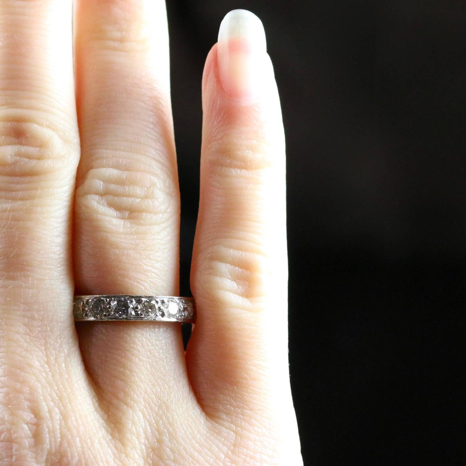 Antique Diamond Eternity Ring 3 Carat Of Diamonds All Platinum For At 1stdibs