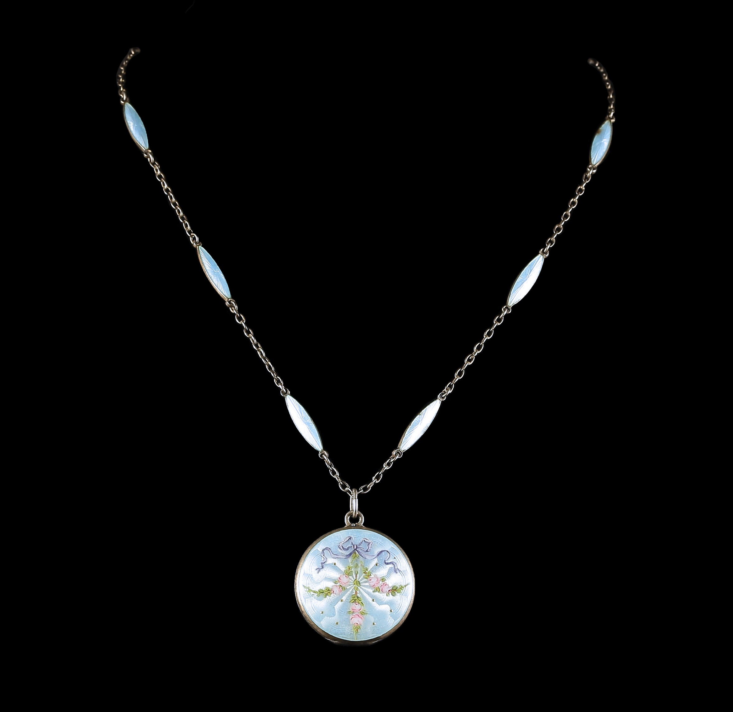 silver deco blue antique j necklaces id art topfront jewelry master drop enamel pendant at necklace