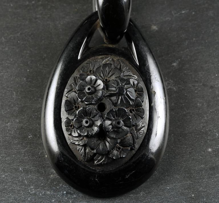 Antique victorian whitby jet necklace three jet pendants circa 1860 antique victorian whitby jet necklace three jet pendants circa 1860 for sale 2 aloadofball Images