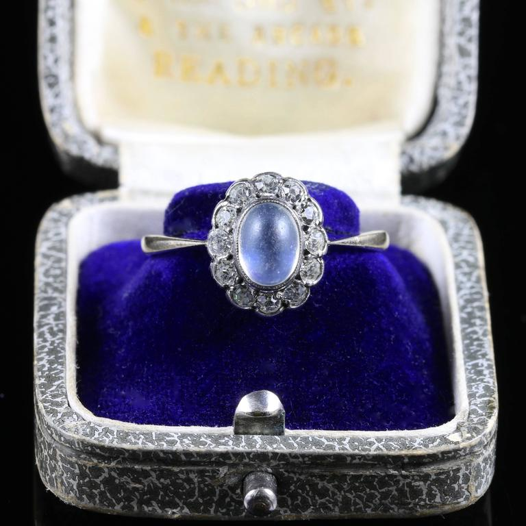 antique victorian moonstone and paste ring circa 1900 at