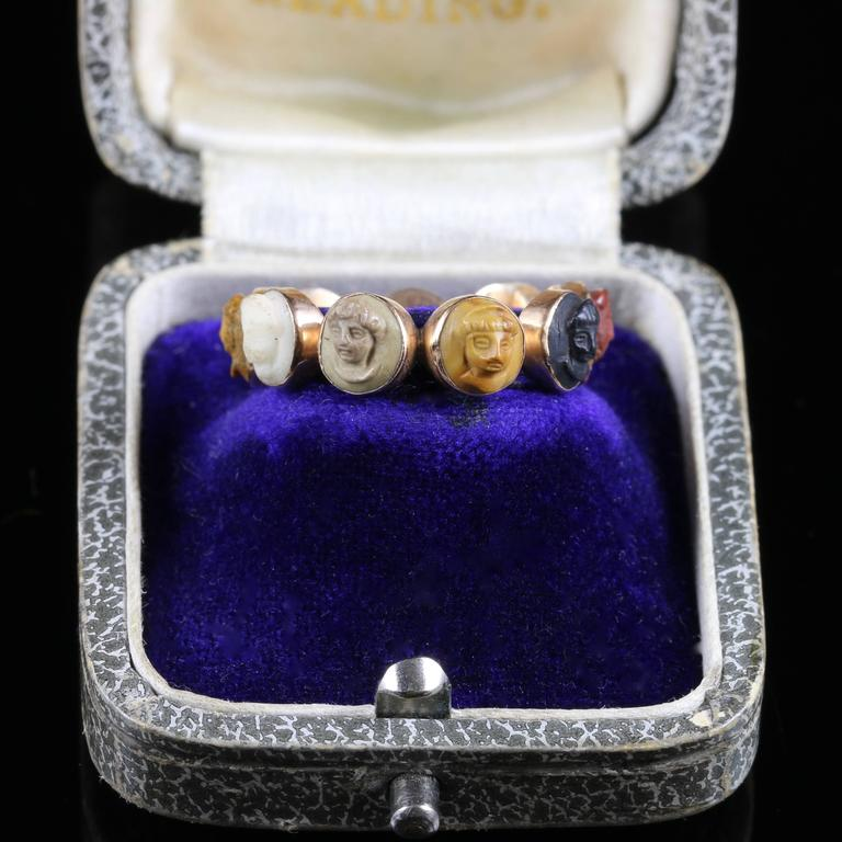 Rare Antique Georgian Cameo Eternity Ring Circa 1800 At