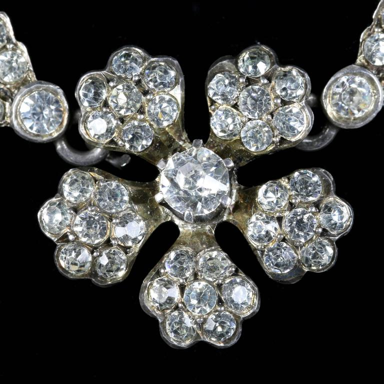 This Spectacular Sterling Silver Antique Victorian Paste Necklace Is Circa 1810 Steeped In English History