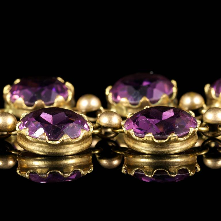 This Spectacular Antique Victorian Amethyst Paste Necklace Is Circa 1860 Steeped In English History