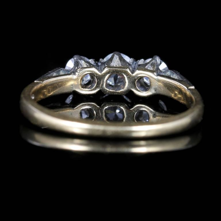 Antique Edwardian Diamond Trilogy Engagement Ring, circa 1915 3