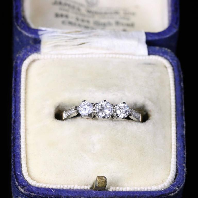 Antique Edwardian Diamond Trilogy Engagement Ring, circa 1915 6
