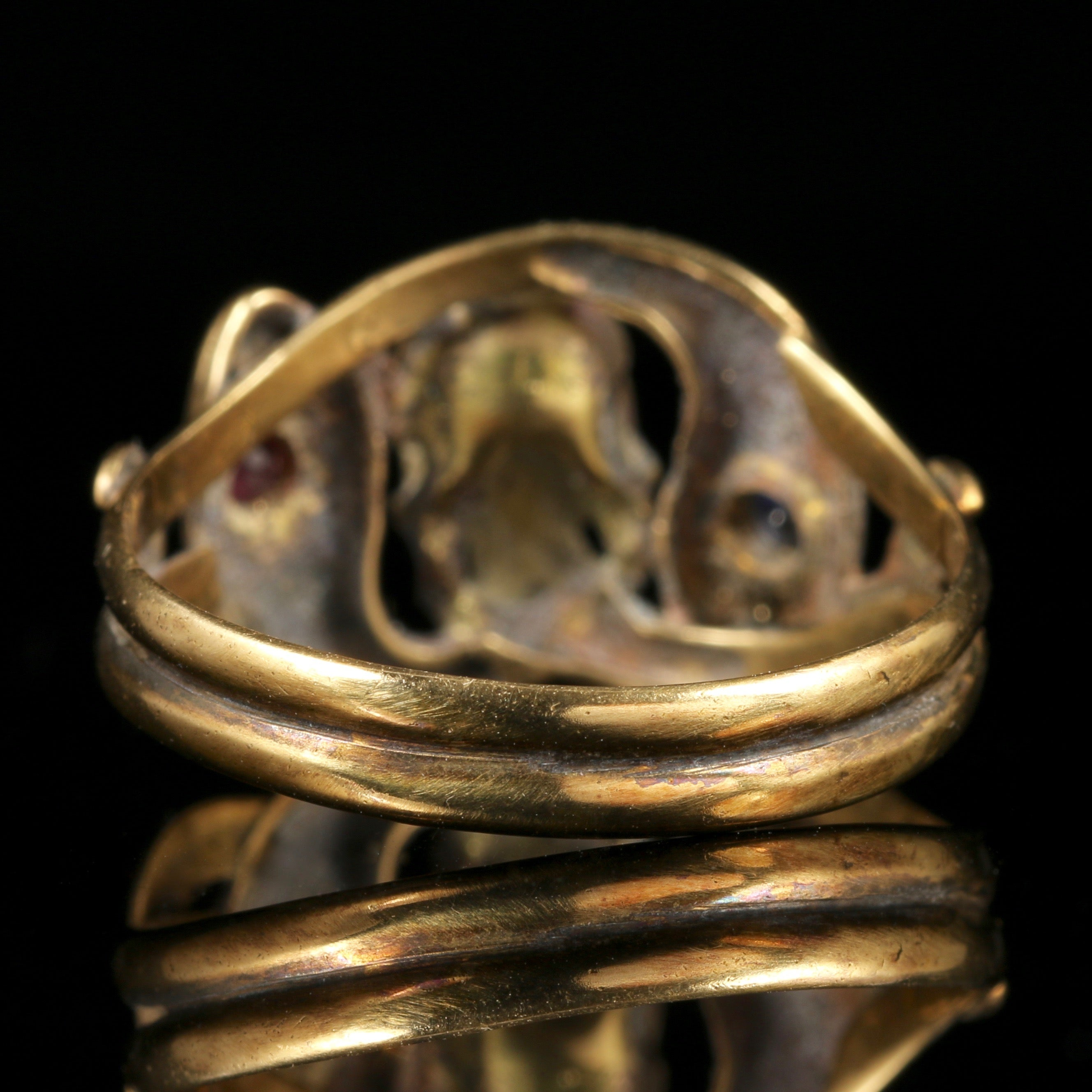 schmuckwerk x ring profil rings ovalem gold engagement shop oval mit profile bronze with de noble