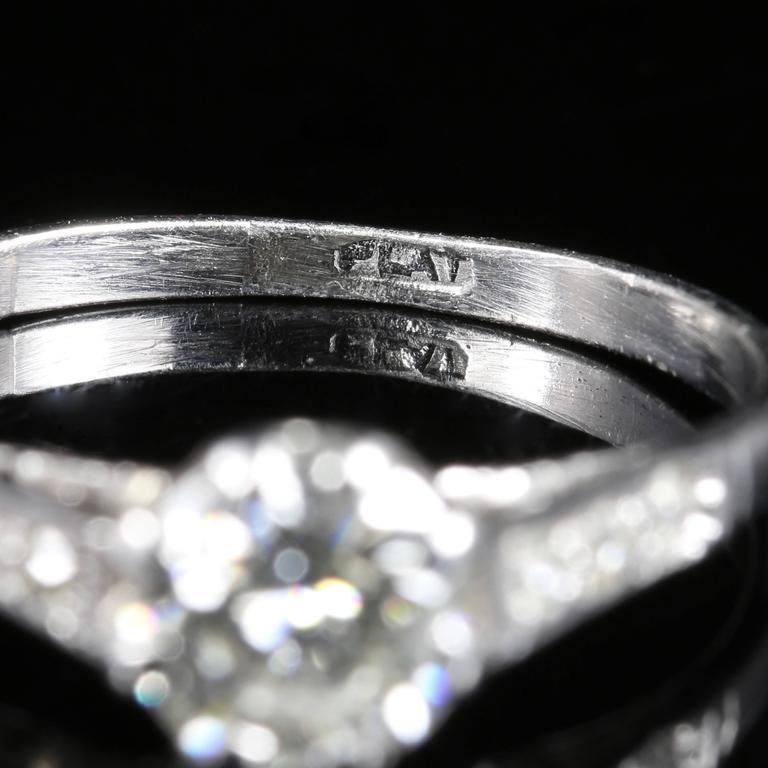 Antique Edwardian Diamond Solitaire Engagement Ring circa 1910 Platinum For Sale 3
