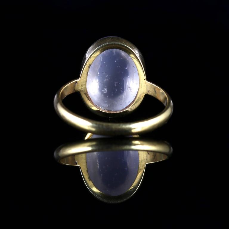 antique victorian moonstone ring 18 carat silver gold at
