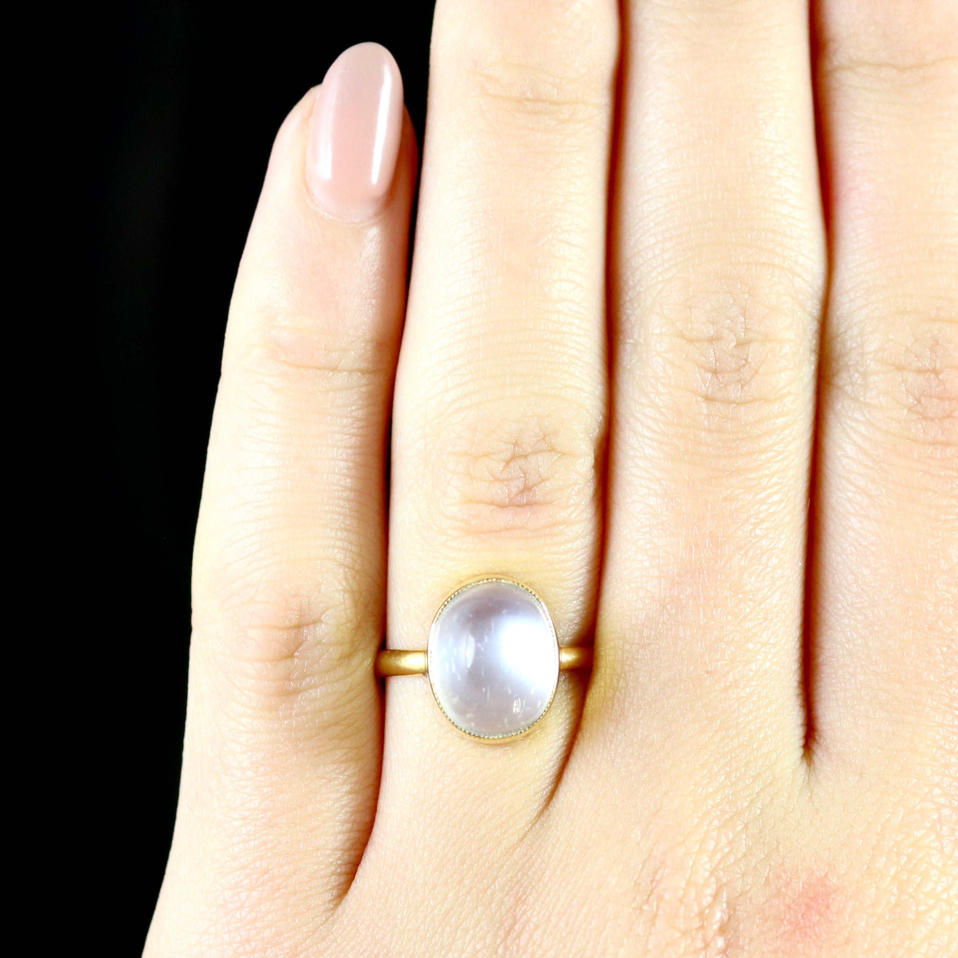 concept ring peach rings new wedding moonstone of