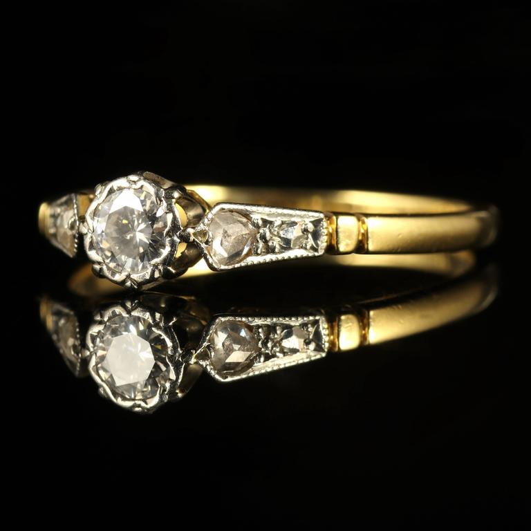 Antique Edwardian Diamond Engagement Ring circa 1914 For Sale at 1stdibs
