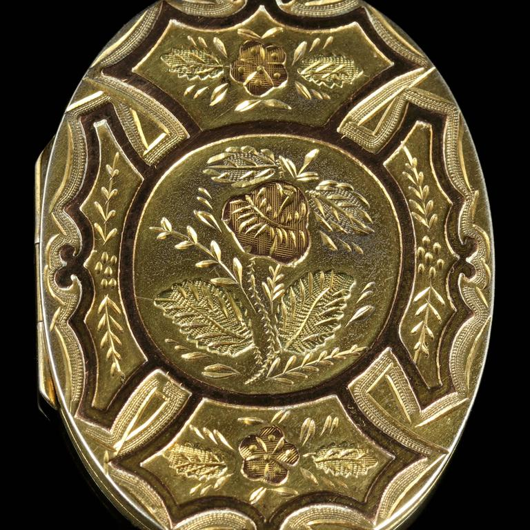 Antique Victorian Gold Silver Locket, circa 1880 For Sale 4