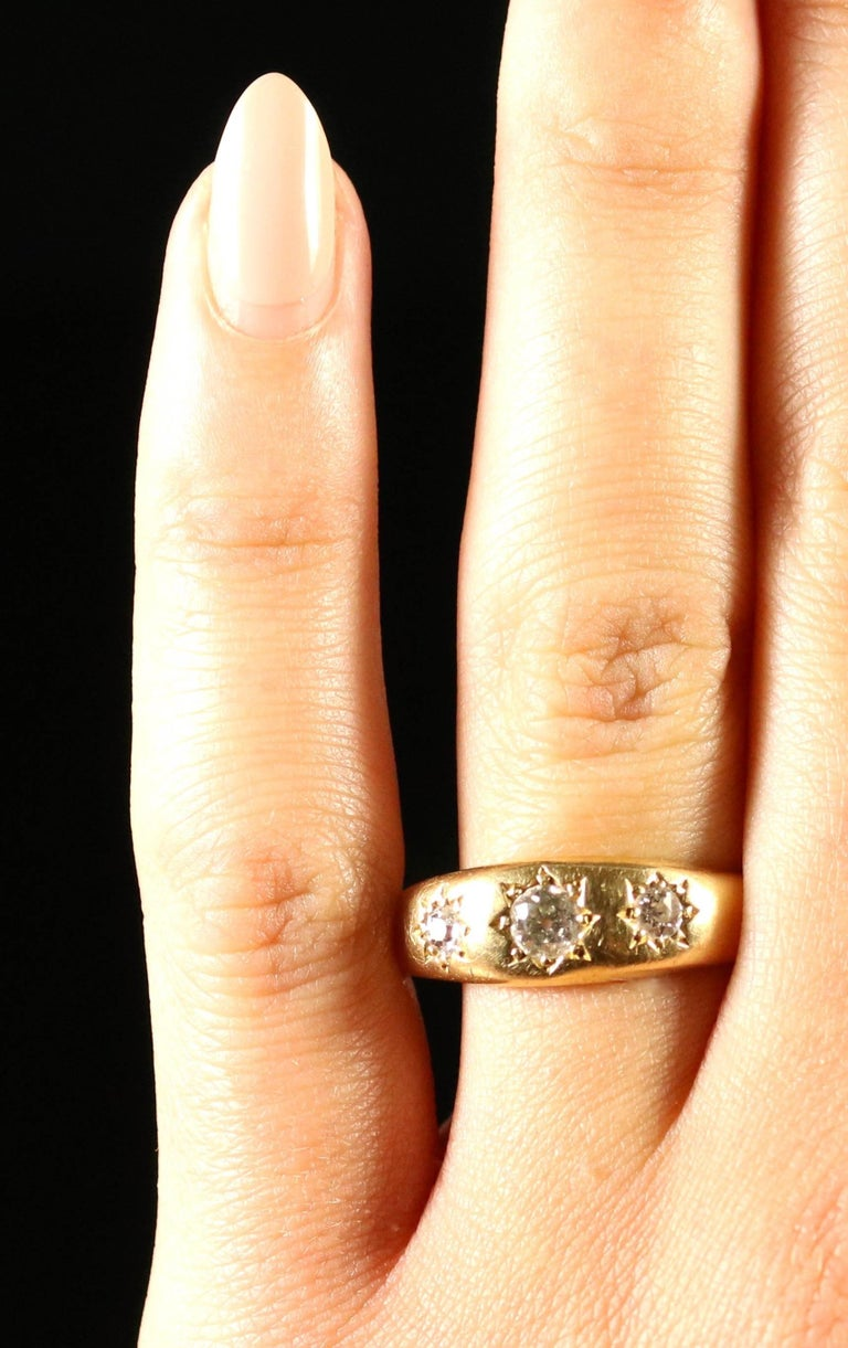 18 Carat Rose Gold: Antique Victorian 0.40 Carat Diamond 18 Carat Yellow Gold