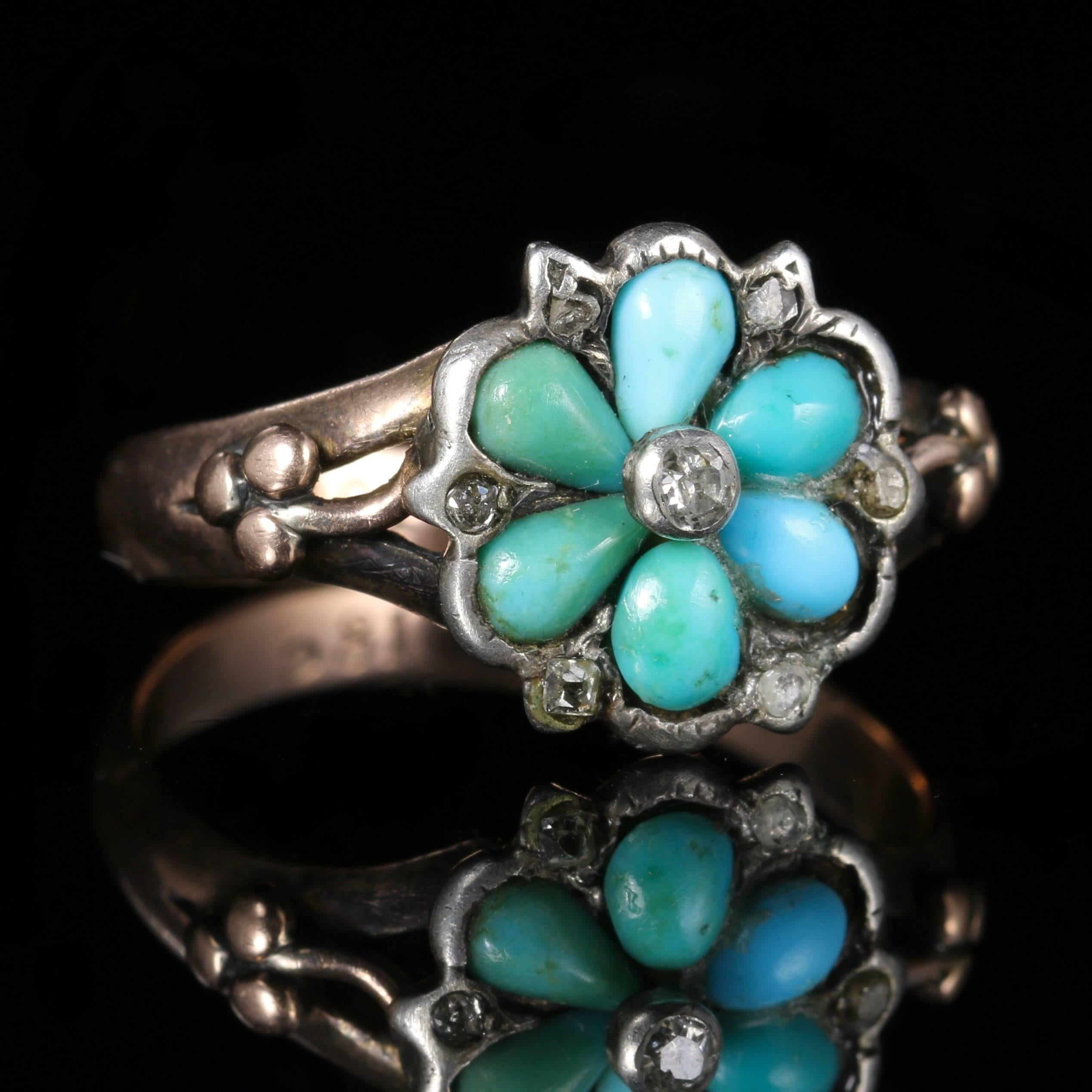 ring diamond c to georgian turquoise detail antique antiques art and gold