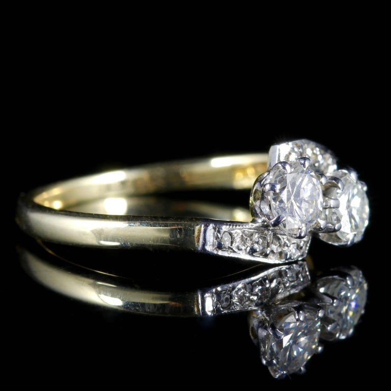 Women's Antique Edwardian Diamond Twist Engagement Ring, circa 1910 For Sale